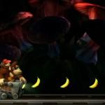 Déplacez-vous en chariot pour ramasser les bananes dans Donkey Kong Country Returns