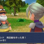 Luneth de Final Fantasy III discute avec Cid