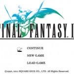 Écran d'accueil de Final Fantasy III pour iPhone