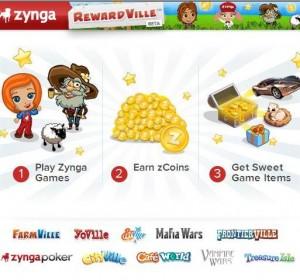 Zynga récompense ses joueurs avec des zCoins utilisables sur RewardVille
