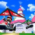 Mario en deltaplane dans Mario Kart 3DS