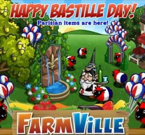 Fête Nationale du 14 juillet: Farmville offre des objets spéciaux