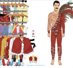 Jeux de Freddie Mercury pour fille et enfant