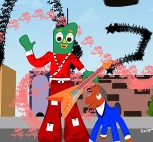 Habillez Gumby, l'animation d'Art Clokey