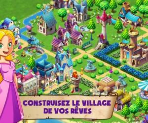 Jeux de fille pour de joyeuses fêtes: Fantasy Town pour iPhone